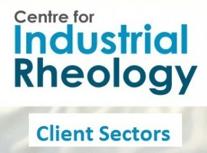Centre for Industrial Rheology Client Sectors
