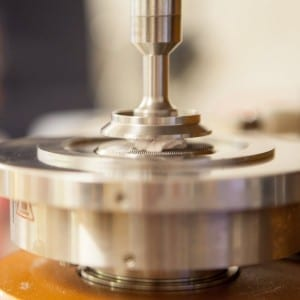 Rheometer in action, close up of geometry
