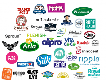 Non-dairy milk and plant based beverage brands